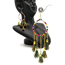 Satyam Kraft Women's Beaded & Tassel Earrings