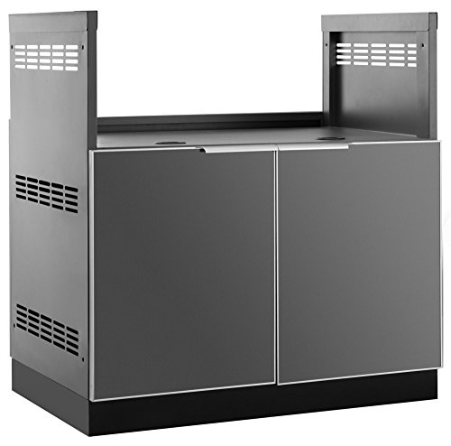 NewAge Products 65204  Outdoor Kitchen 33″ Insert Grill In Aluminum Outdoor Kitchen Cabinet, Slate Gray