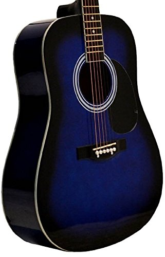 48cacf59 Amazon.com: Directly Cheap 6 String Acoustic Guitar, Right Handed, Blue,  Full (GA41-BLS+DVD): Musical Instruments