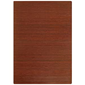 Anji Mountain AMB24002 Bamboo Roll-Up Chairmat without Lip, Dark Cherry, 72 x 48-Inch