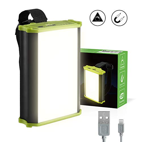 LE Rechargeable LED Camping Lantern, 4400mAh Power Bank, 330lm, Dimmable, Small Tent Light with Magnetic for Outdoor, Hiking, Fishing, Emergency and More