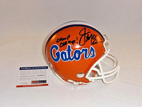 Jim Mcelwain Signed Florida Gators chomp Chomp Mini Helmet - PSA/DNA Certified - Autographed College Mini Helmets