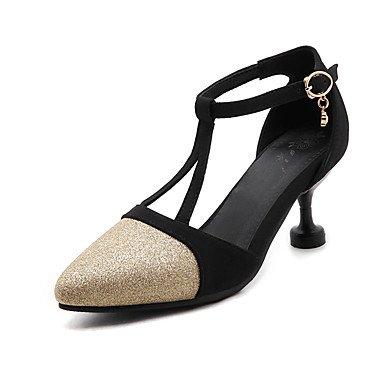 LvYuan Mujer-Tacón Stiletto-Confort-Sandalias-Oficina y Trabajo Informal Fiesta y Noche-Semicuero-Morado Oro Plata sliver