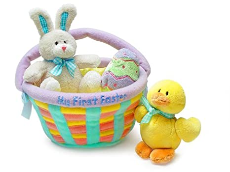 Amazon my first easter basket baby gund toys games my first easter basket baby gund negle
