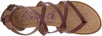 Blowfish Women's Bungalow Sandal, Whiskey, 10 M Us 7