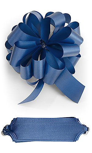 10 Royal Blue Sapphire Pull Bows 5.5 Inch Diameter 20 Loops Wrapping Wrap Ribbon Bow