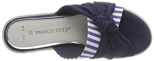 Bleu Marco Femme Mules Tozzi Comb Navy 27129 xxZaUq8