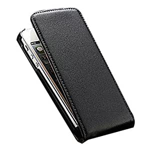 Leather flip the body for the iPhone 5 seconds / 5 g (various colors) , Black