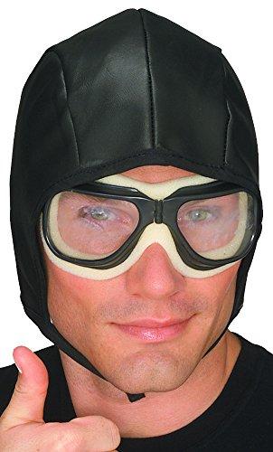 [Aviator Helmet & Goggles Set] (Adult Aviator Hat)