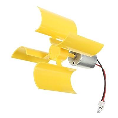 RoseSummer Diy Kit Small Dc Motor Vertical Micro Wind Turbines Blades Generator