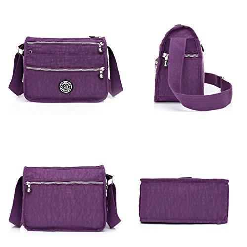 for Messenger Shoulder Bag Bag Side Women Foino Travel Sport Fashion Waterproof Blue 1 Lightweight Pack Body Cross Casual Bag Tabelt 5qPXw