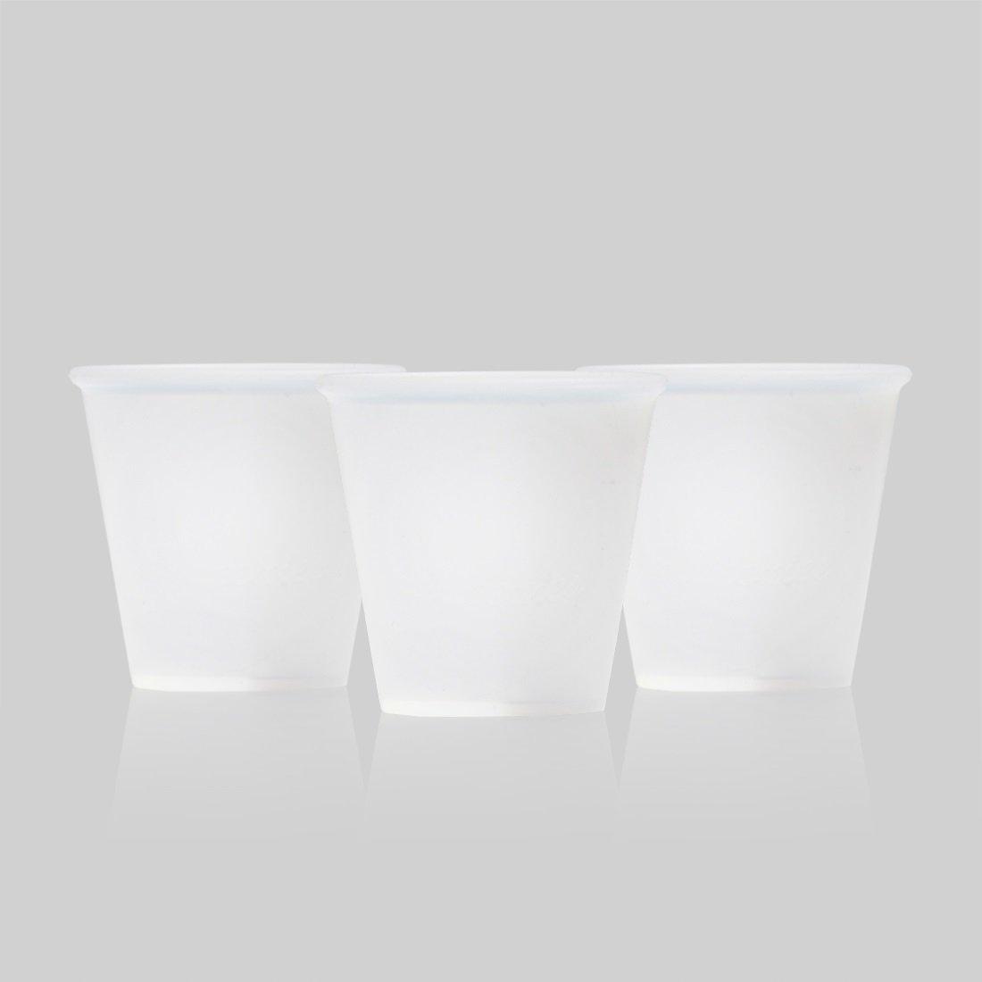 Silicone Bathroom Cups 4pk (3oz) Reusable, Eco-Friendly, Dishwasher Safe