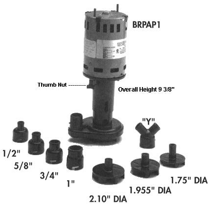 Little Giant Universal Ice Machine Pump, 115/230 Voltage, 1.5/0.75 Amps, Discharge O.D. (In.): 1 - RIM-U