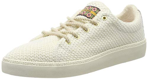 SCOTCH & SODA FOOTWEAR Women's Laurite Trainers, Beige (Ivory S21), 8.5 UK 7 (Best Suspension Trainers 2019)