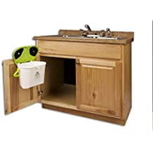 Kitchen Compost Caddy Cabinet Mounted Compost Bin - Pail System With Activated Carbon Filters