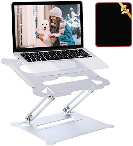 Tersework Adjustable Laptop Stand for Desk, Notebook Laptop Holder Stand with Heat-Vent, Computer Stand Notebook Aluminum Stand for Laptop up to 17 inches, Compatible for MacBook Pro, Surface