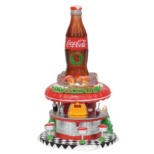 - Department56 Department 56 Coca Cola Soda Fountain Porcelain Collectible Figurines (6002293)
