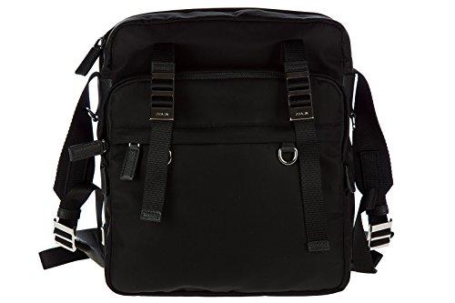 Prada men's Nylon cross-body messenger shoulder bag black