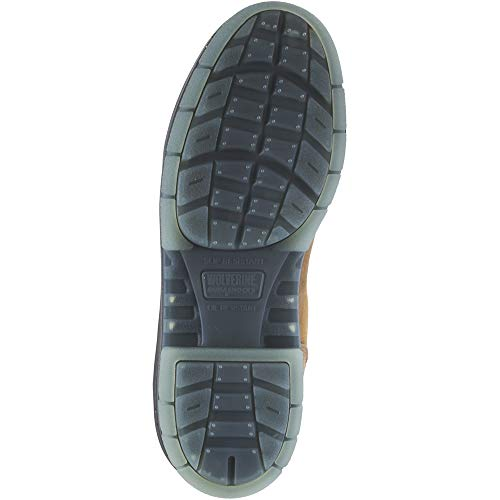 Wolverine I-90 DuraShocks Waterproof Insulated Steel Toe 8'' Work Boot Men 9 Stone by Wolverine (Image #2)