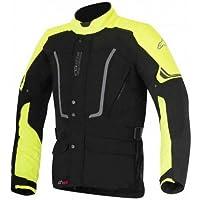 Alpinestars–Motocicleta Chaquetas Vence DRYSTAR Negro Amarillo Fluo–S