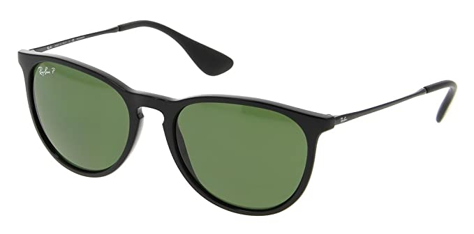 6a6ac47b6c Image Unavailable. Image not available for. Color  Ray Ban RB4171 601 2P 54  Black Polarized Green Erika Sunglasses ...