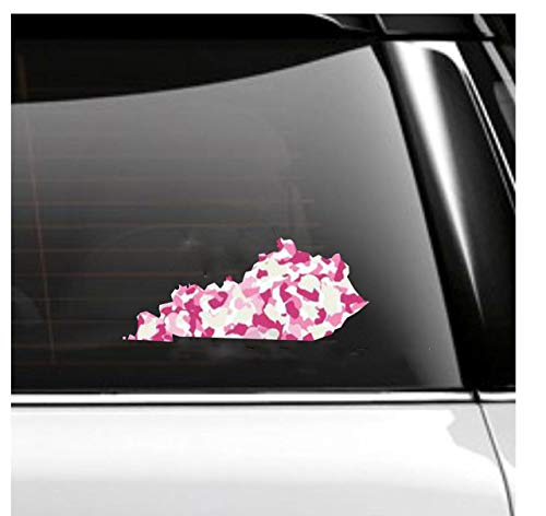 Pink Camo State Car and Tumbler Decal