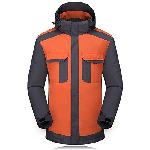 Arancione Fym Maniche Sci Da Cerniera Cappotto Dyf Cappello Lunghe Giacca Impermeabile Giacche Rimovibile Uomo T4qd7Awx7