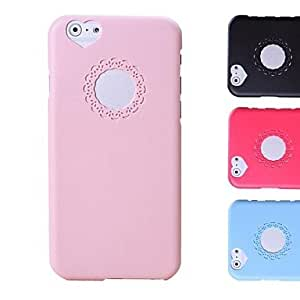 Carving and Heard-shape Pattern Hard Case for iPhone 6 (Assorted Colors) , Pink