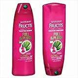 plush Garnier Fructis Full and Plush Shampoo and Conditioner Bundle - Net Wt. 13 Fl Oz (384 Ml) Each - One Set