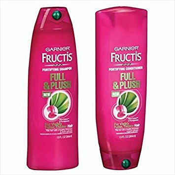 Garnier Fructis Full and Plush Shampoo and Conditioner Bundle - Net Wt. 13 Fl Oz (384 Ml) Each - One Set