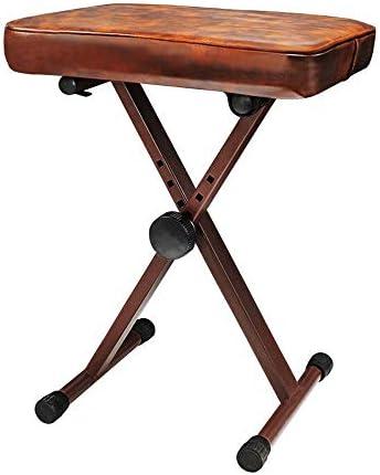 デラックスコンフォート ユニバーサル・4ポジション調整楽器椅子ピアノベンチ1人古筝キーボードギタースツール パッド入りピアノベンチスツール (色 : ブラック, サイズ : ワンサイズ)