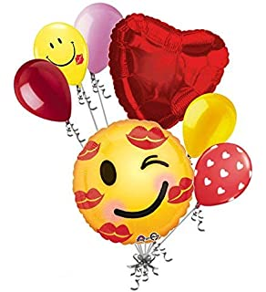 Amazon com: 12 pc Emoticon Love Happy Valentines Day Balloon