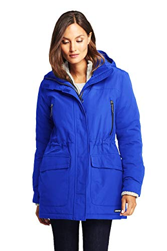 (Lands' End Women's Squall Winter Parka, XL, Electric Blue)