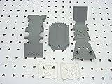 Traxxas 4938A Grey Rear Skidplate - T-Maxx 3.3
