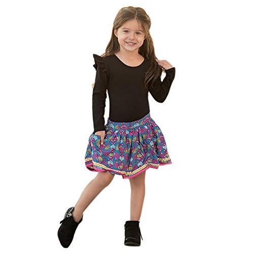 Toddler Baby Girls Ruffle Long Sleeved T-Shirt Blouse