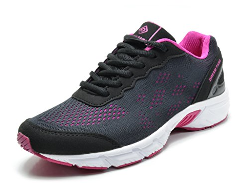 DREAM PAIRS Women's 160480-W Black Fuchsia Sport Running Shoes Sneakers - 12 M US
