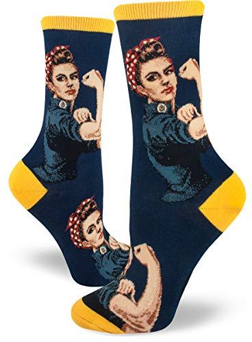 (ModSocks Women's Rosie The Riveter Crew Socks in Navy (Fits Most Women Shoe Size 6-10))