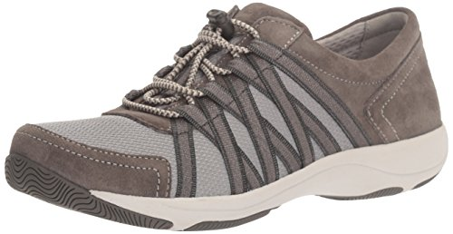 Dansko Womens Honor Sneaker In Pelle Scamosciata Color Carbone