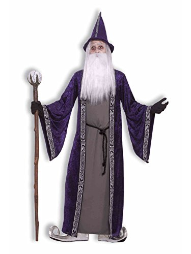 Forum Novelties Men's Wizard Adult Costume, Purple, Standard