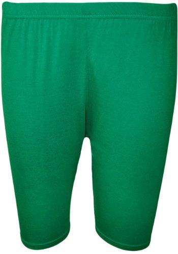 WearAll Women's Plus Size Plain Elasticated Cycling Shorts - Jade - US 20-22 (UK 24-26)