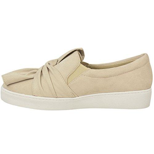 Pour Nouveaux Femmes Femmes Chaussures Pumps Suede Mode On Slip Nude Baskets Faux Taille Blanche Faux Semelle Sneakers Flat Soif Suede IAwnqxB