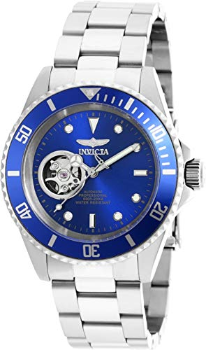 Invicta Men's 'Pro Diver' Stainless Steel Automatic Watch, Color:Silver-Toned (Model: 20434)