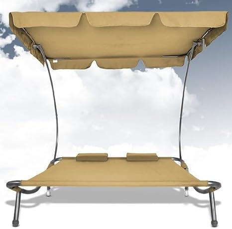 Miadomodo - Tumbona para dos personas con techo, tumbona de jardín ...