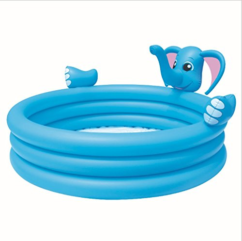 Elephant Inflatable Baby Pool Ring Floats Portable Mini A...