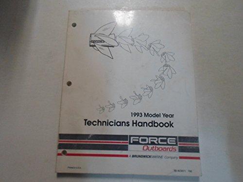 (1993 Force Outboards Technicians Handbook Manual WORN)