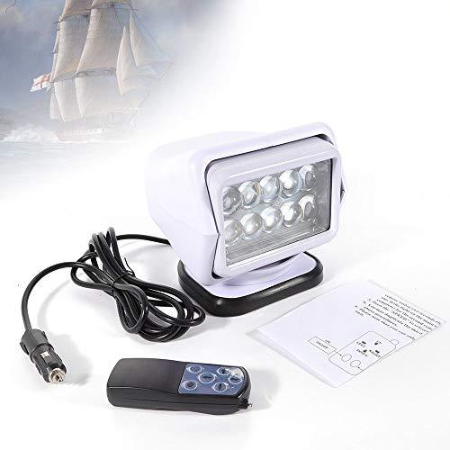 (GDAE10 Searchlight, Boat LED Light, 50W 1980 LM 6000K Marine Boat Remote Control Spotlight Searchlight Light Car (CA NJ Warehouse))