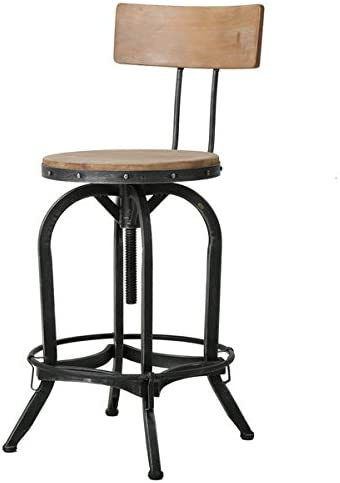 Christopher Knight Home Stirling Adjustable Wood Backed Barstool