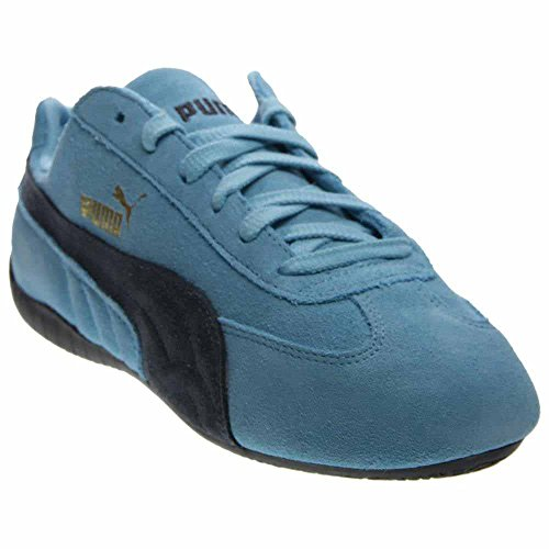 Puma Speed Cat Mens Blue Suede Lace Up Sneakers Shoes (Suede Cat Shoes)
