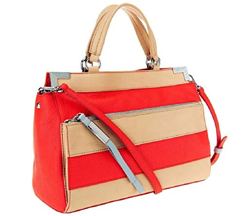 Used, B. Makowsky Marina Pebble Leather Satchel, Watermelon for sale  Delivered anywhere in USA