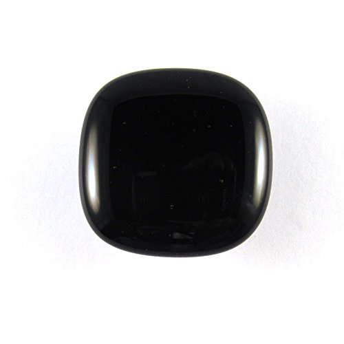 Raven Black Glass Cabinet Knob - Colormax Collection (118 colors) Rounded Square Black Glass Knob